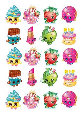 Shopkins  Stand Up Cupcake Toppers